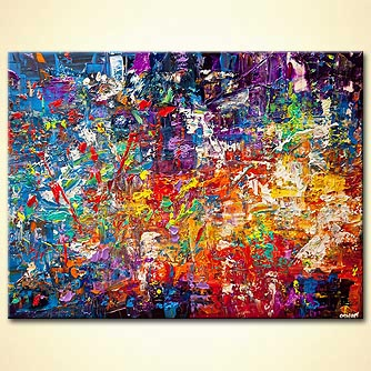modern colorful abstract art
