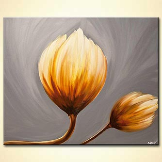 modern abstract art - Yellow Tulips