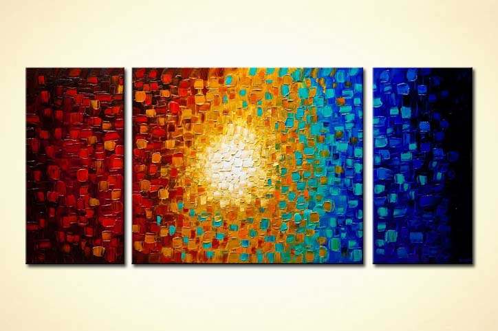 Painting Modern Colorful Textured Abstract 9224