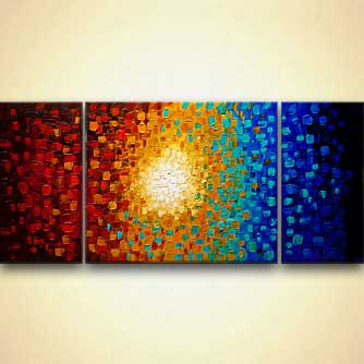 modern colorful textured abstract painting