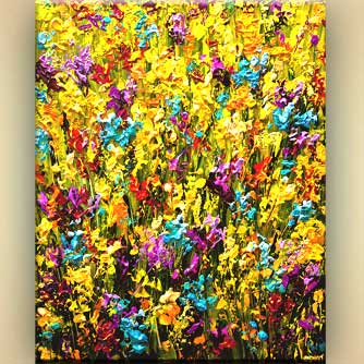 modern palette knife floral painting