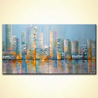Cityscape painting - Salt City