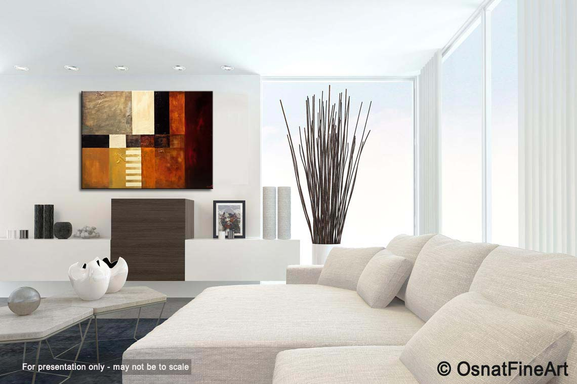 Painting - big modern abstract painting #9283