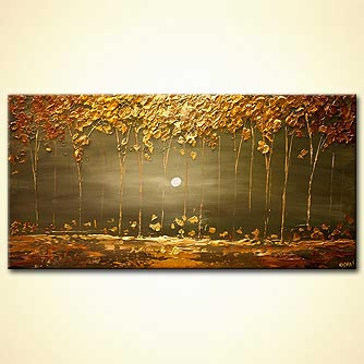 canvas print - The Golden Forest