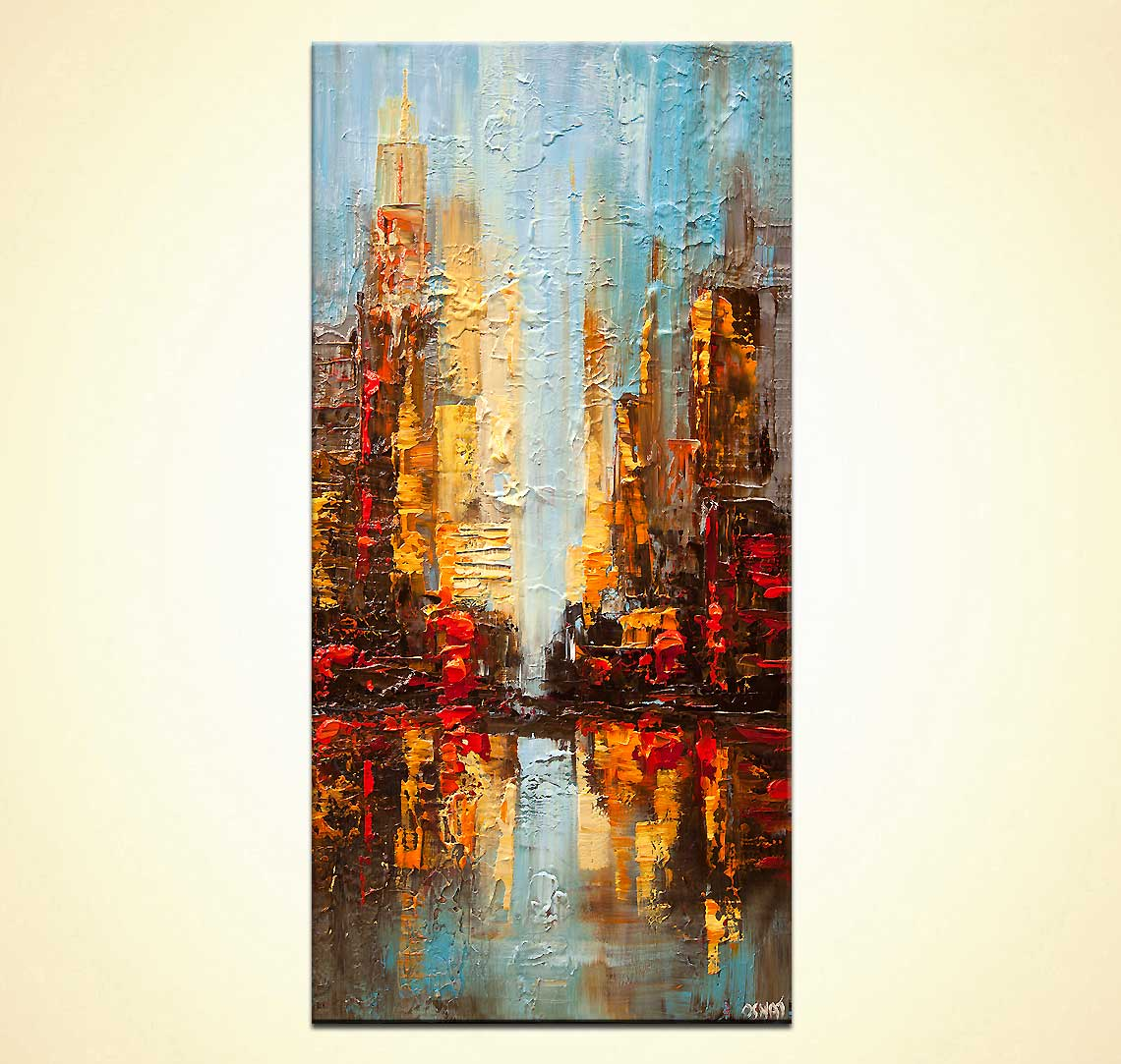 modern abstract art - City Reflection