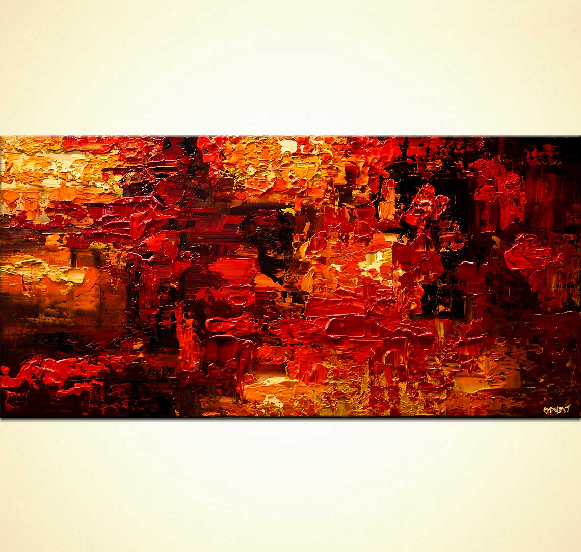 modern abstract art - Red Land