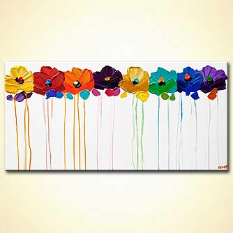 Floral painting - Colors of the Wind
