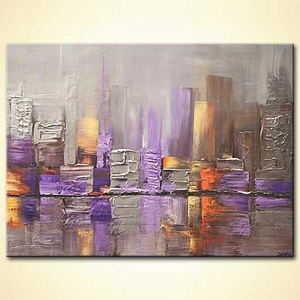 Cityscape painting - The Fog