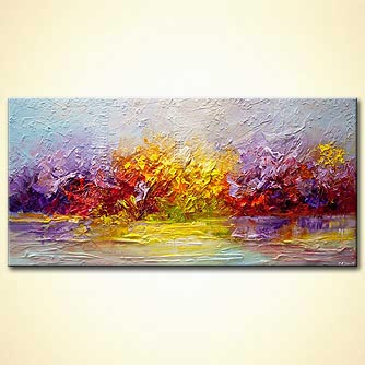 colorful modern landscape abstract art