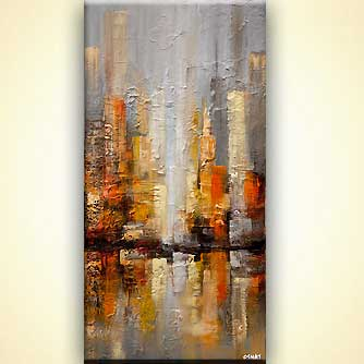 Cityscape painting - Downtown