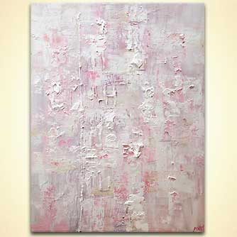 pink white textured abstract art
