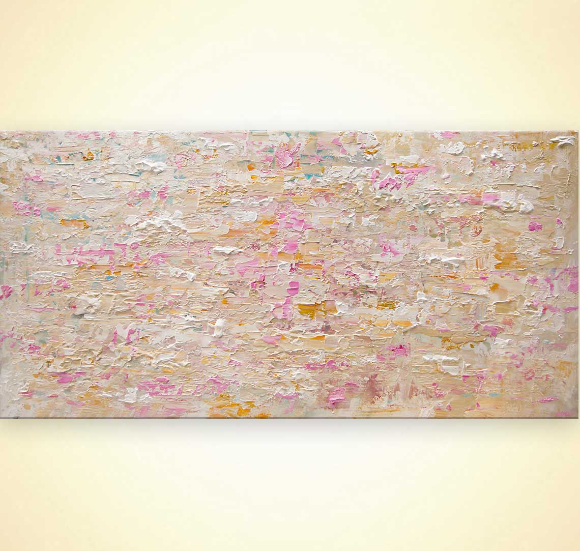 big textured soft abstract painting