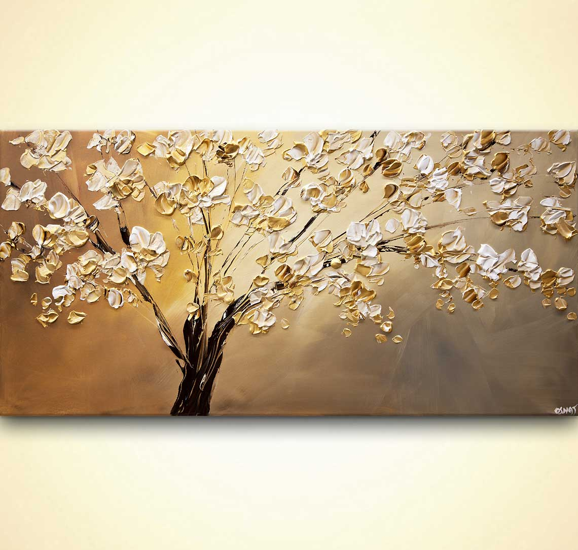 modern abstract art - The Golden Almond Tree