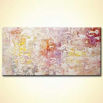 modern textured white abstract art
