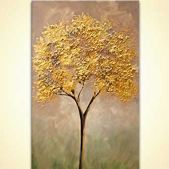 golden tree painting