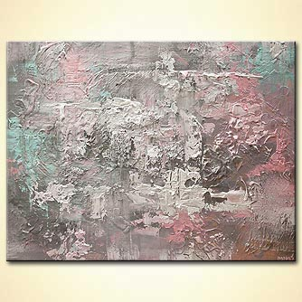 heavy textured gray abstract art