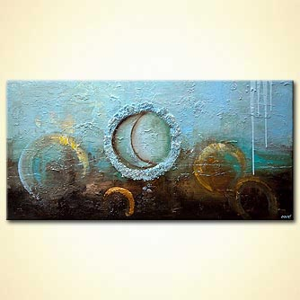 light blue modern textured abstract painting