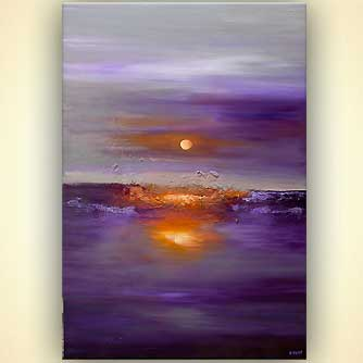 Abstract painting - Purple Sunset