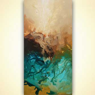 teal turquoise abstract art