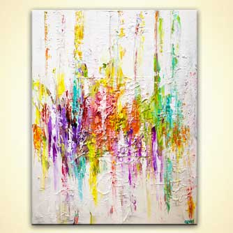 colorful textured abstract art white background