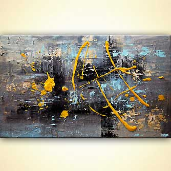 Abstract painting - A Splash of Sunshine