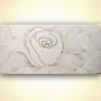 large white flower painting with sparks