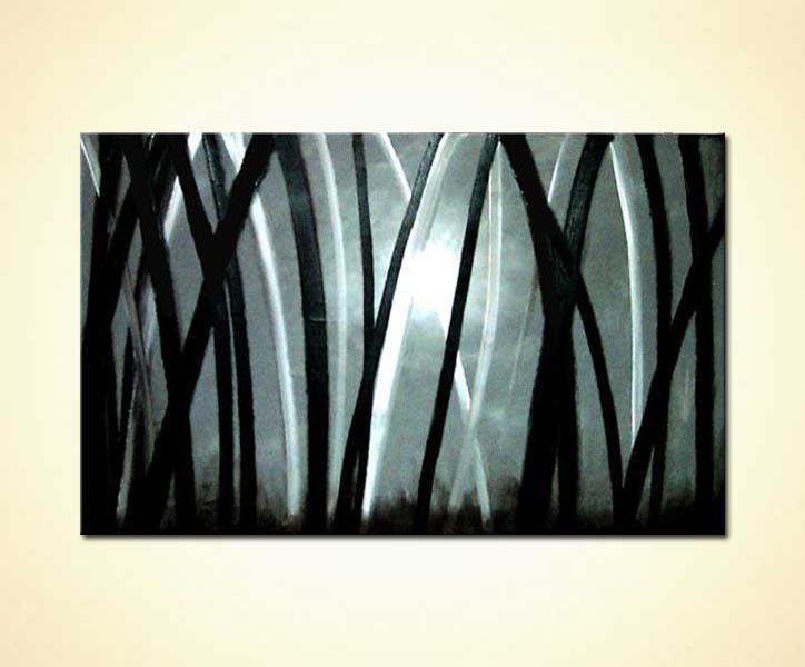 Painting For Sale Abstract Forest In Black And White 422
