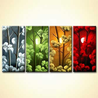 Forest painting - Four Seasons