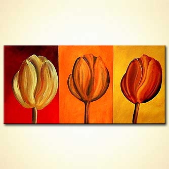 modern abstract art - Tulips