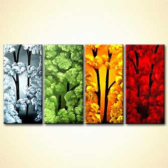modern abstract art - Four Seasons