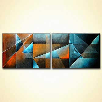 modern abstract art - Metallic Dreams