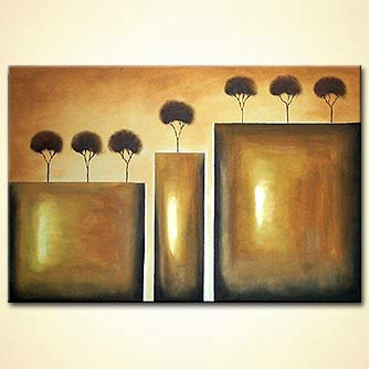 modern abstract art - Golden Cliffs