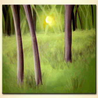 Landscape painting - Splendor in the Grass