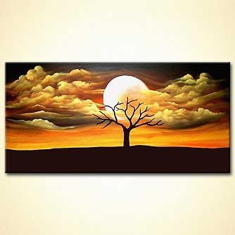 Landscape painting - Touched by a Moon