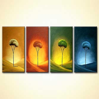 Forest painting - Seasons