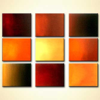 multi panel solid color canvases