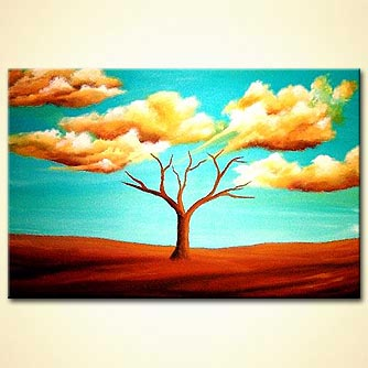 Landscape painting - Touching Heaven