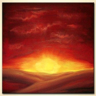 Landscape painting - Sunrise