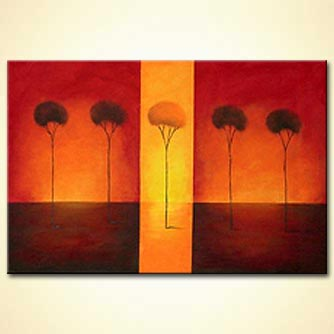 modern abstract art - Sunset and Sunrise