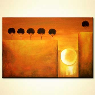 Forest painting - Sunset
