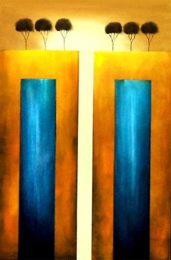 modern abstract art - The Two Towers