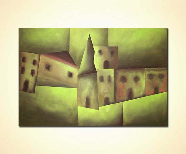 modern abstract art - The Village
