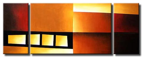 Red Oarnge Tan Yellow Abstract Art Paintings