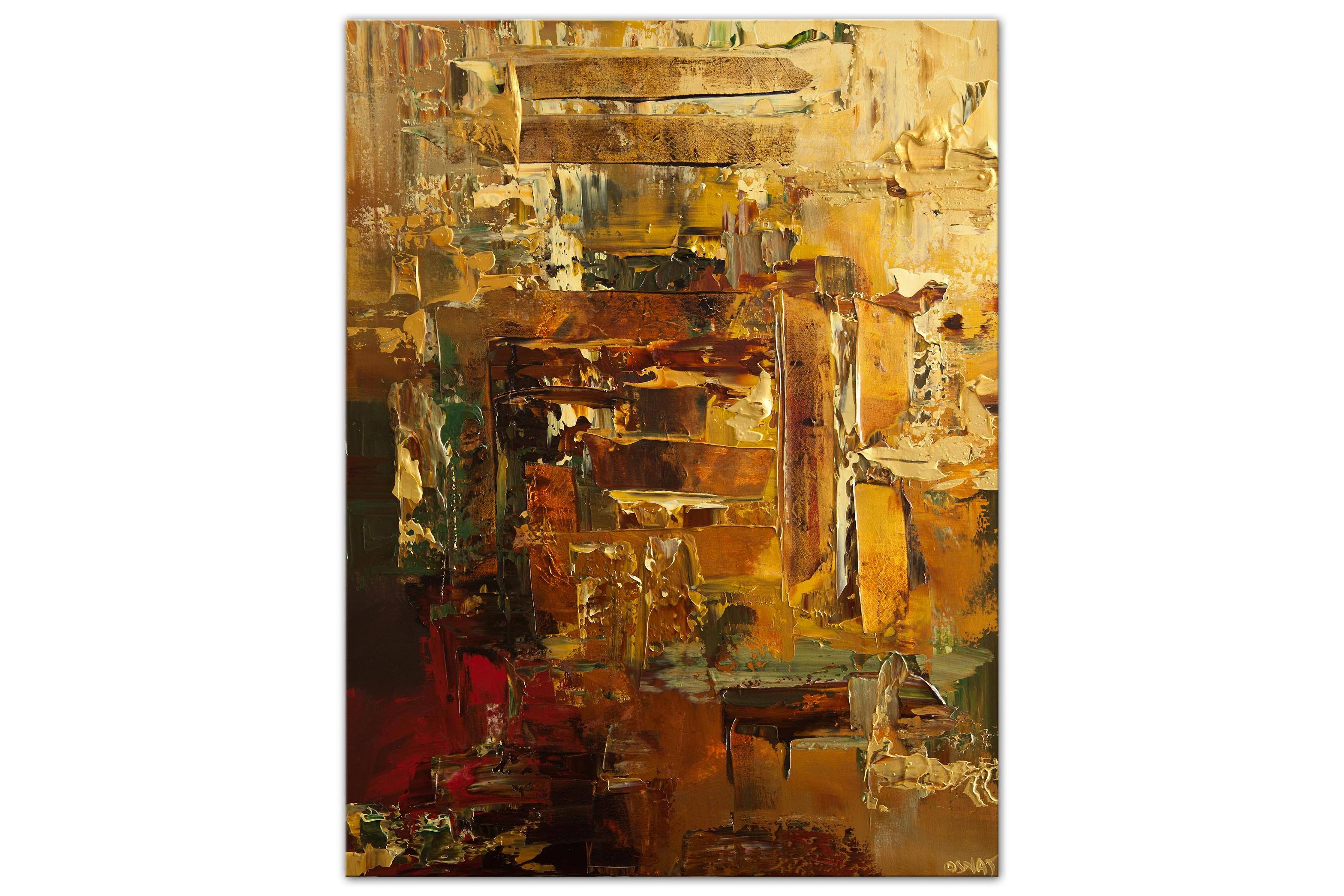 textured modern gold abstract painting