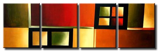 multi panel modern abstract