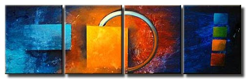 abstract eclipse modern painting