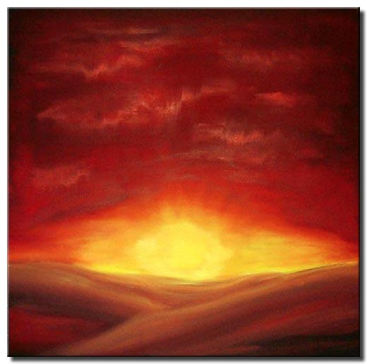 painting for sale sunset art deco contemporary clouds sky red 134 abstract and modern paintings osnat fine art