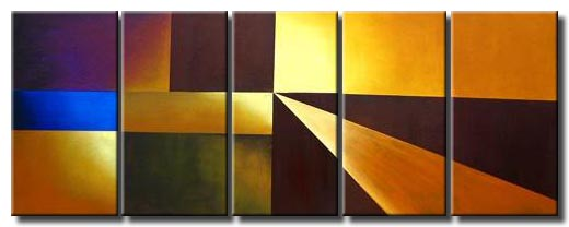 multi panel geometrical abstract art