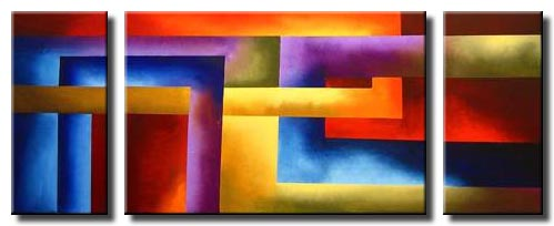 triptych canvas colorful abstract