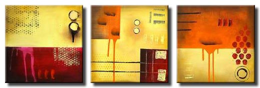 triptych abstract wall decor